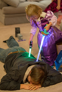 """Nora says """"You are NOT my father!"""" after having seen Star Wars."""