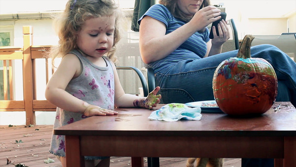 October 8, 2011 - Pumpkin Painting