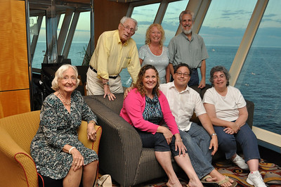 Back: Norm II, Claudia, Art Front: Joan, Laura, Norm III, Candy