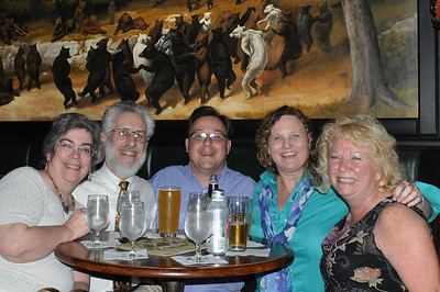 In the Bull & Bear Pub: Candy, Art, Norm, Laura, Claudia