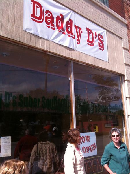 Outside Daddy D's in Hendersonville