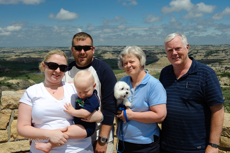 2009 Whole family in ND Badlands