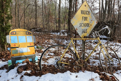Watch for School Bus - always a good idea...even on vacation.