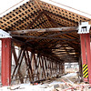 """North Manchester Covered Bridge undergoing major repairs and renovation. To learn more read <a href=""""http://www.nmanchesterhistory.org/eel-river-covered-bridge.aspx"""">http://www.nmanchesterhistory.org/eel-river-covered-bridge.aspx</a>"""