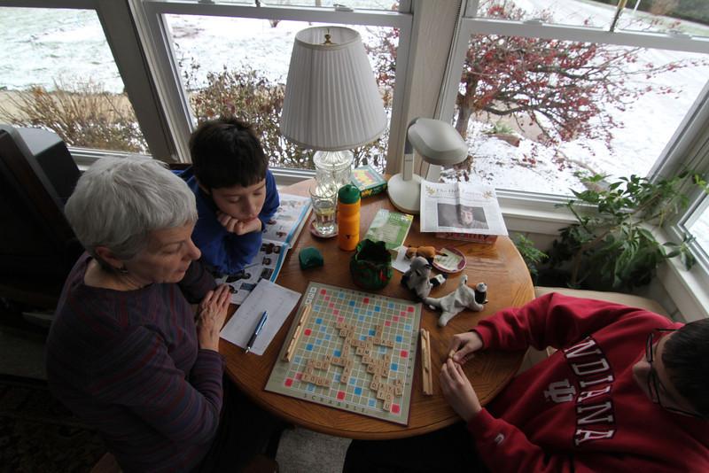 Scrabble - better to get an early start.
