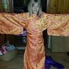 Lila models mommy's old kimono