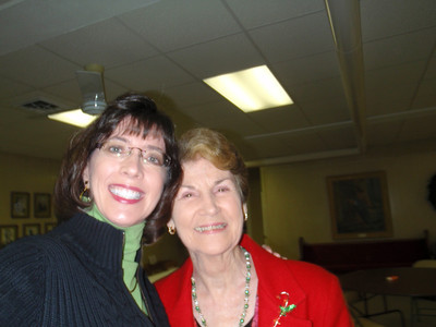 Me and Joan Norton (adopted Mom) at First UCC on Xmas day