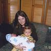 Camden holding baby Jaxson.