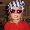 Claire decided she needed some sunglasses with her hat.