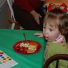 Madison enjoying her lunch.