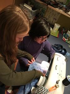 Hannah & Kaitlin creating