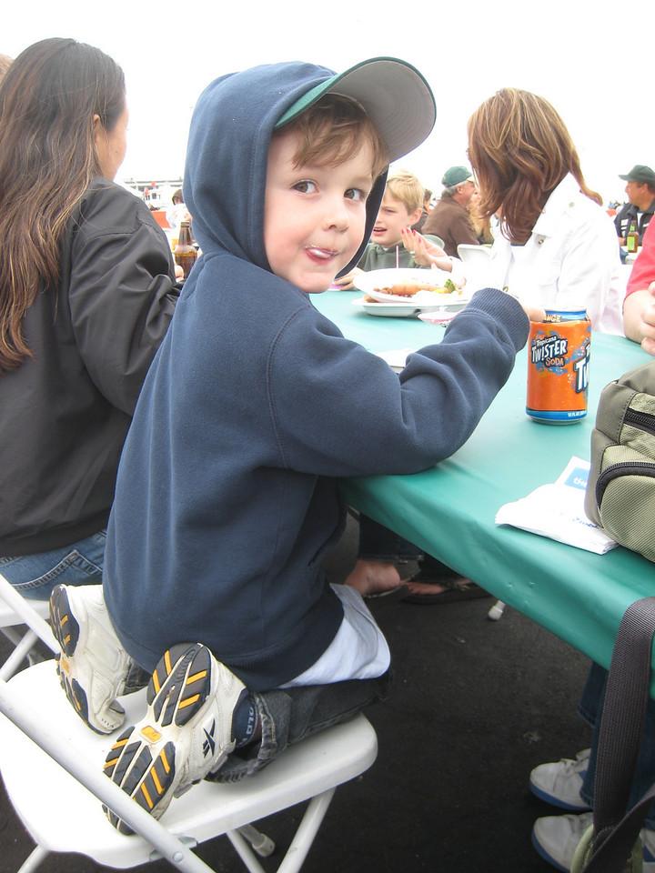 Andrew enjoying the BBQ.
