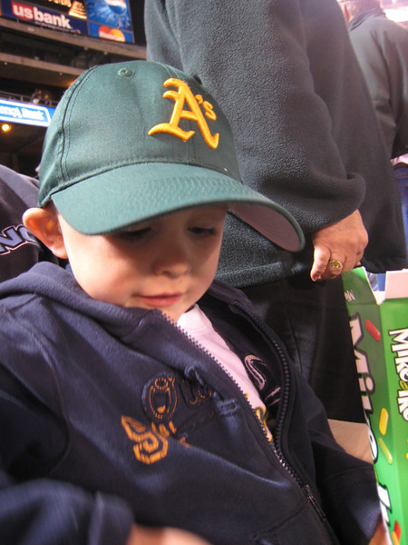Andrew the A's fan.