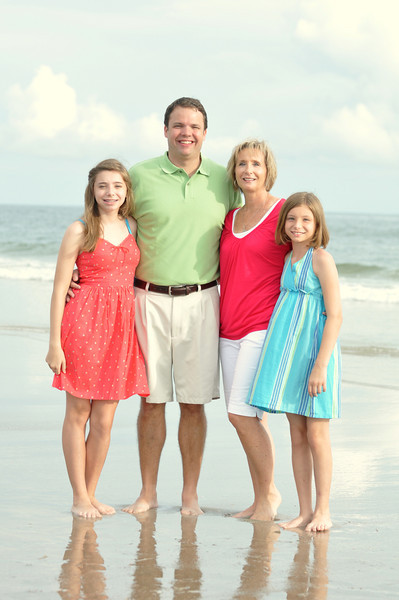 Oak Island, NC - Bryce Lafoon Photography captures a beautiful family on Vacation in Oak Island, North Carolina.