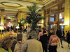 Lots of standing in line in the ornate Fairmont lobby.