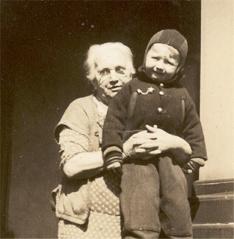 1936 0229 Grandma Oberholtzer & Dick Feb 29,