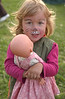 "Zara with her ""Pink Tiger"" face at harvest fest"