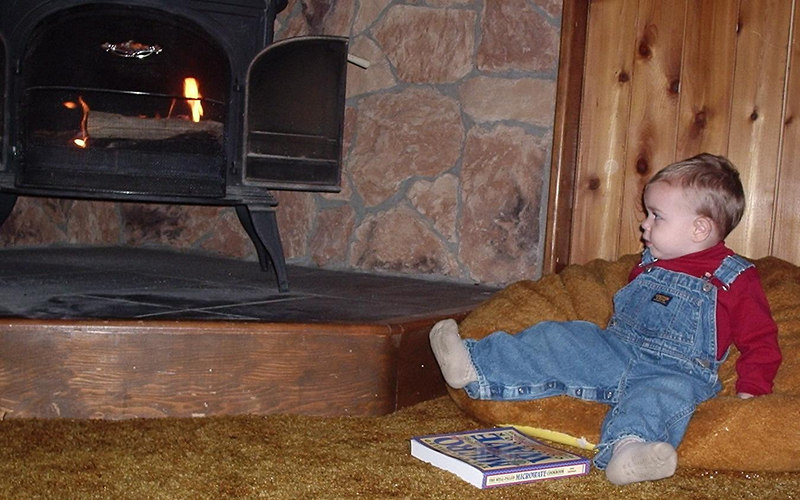 Settles in next to the fire for a good read.