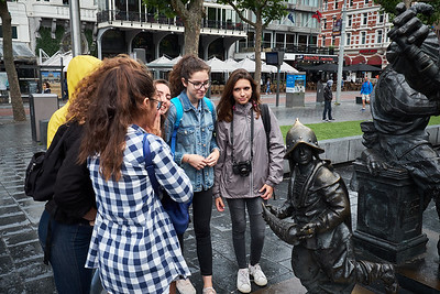 At the Rembrandt plein.