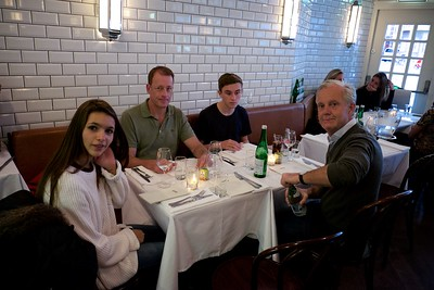 Dinner with friends in Amsterdam.