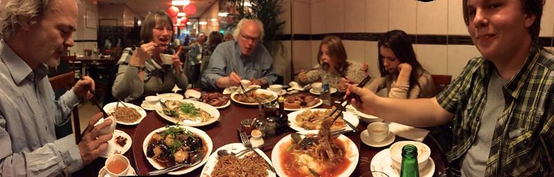 Enjoying Nam Kee with family.