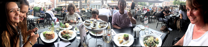 Little Rademakers lunch with oysters and shrimp croquettes.