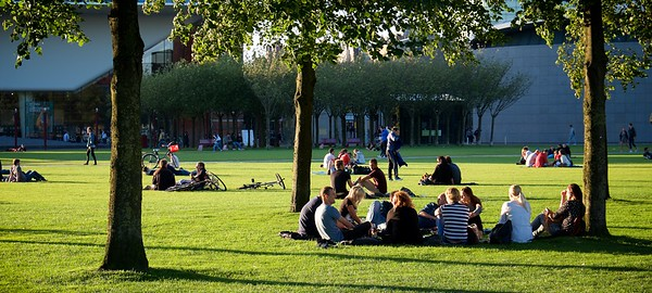 The museumplein in Amsterdam.