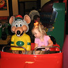 Claire riding with Chuck E.
