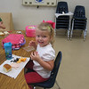 Camden eating lunch at school.