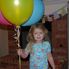 Camden woke up to find balloons and decorations for her birthday.