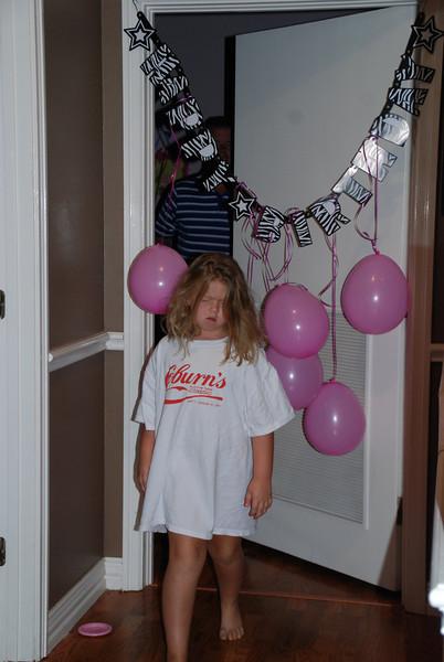 Camden woke up on her birthday to balloons on her door.