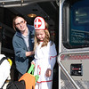 Claire the nurse, checking out the ambulance.