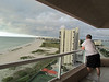 Ken watching a storm coming, Crescent Beach condo, Clearwater Beach, FL, 10/4/2012