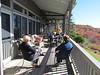 Linda, Sheila, her mother, Frank and Doug on Shiela's porch, West Jefferson, NC, 10/19/2012