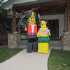 This neighborhood had resident lego people handing out candy!  Way cool!