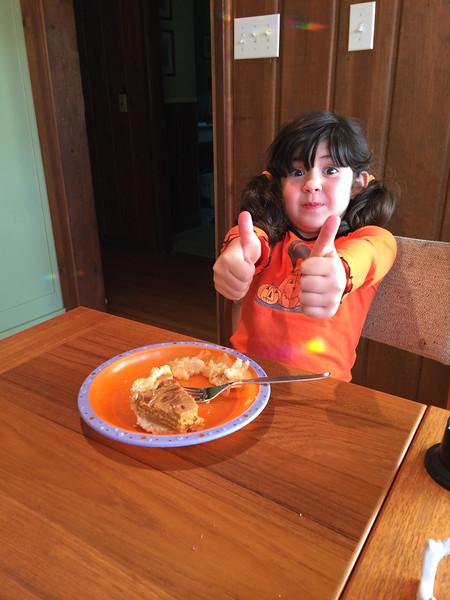 likes pumpkin pie!
