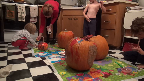 PUMPKIN PAINTING, OCTOBER 30TH, 2015, part 2