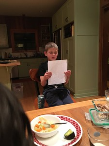 "Kol's reading of his story: ""The time a dinosaur wanted a pet"""