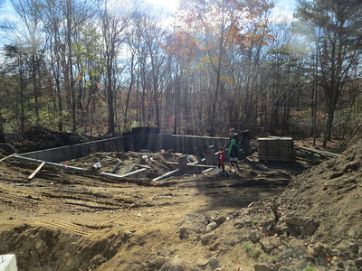 Foundation for the new garage