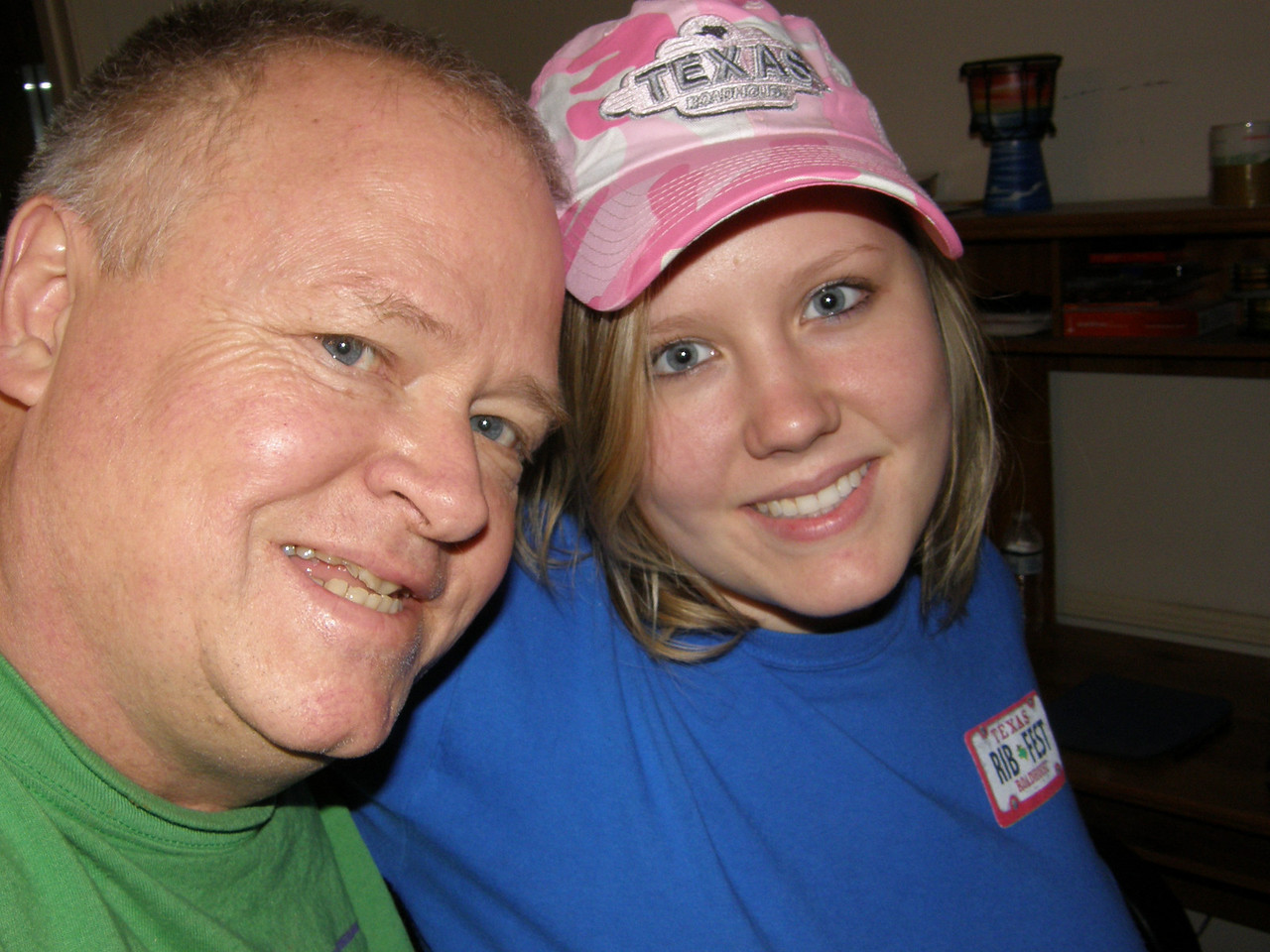 Dad and Katie.  Like that pink Roadhouse cap!
