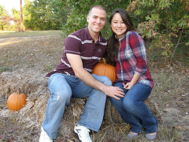 Luke, Tiffany, and a pumpkin!