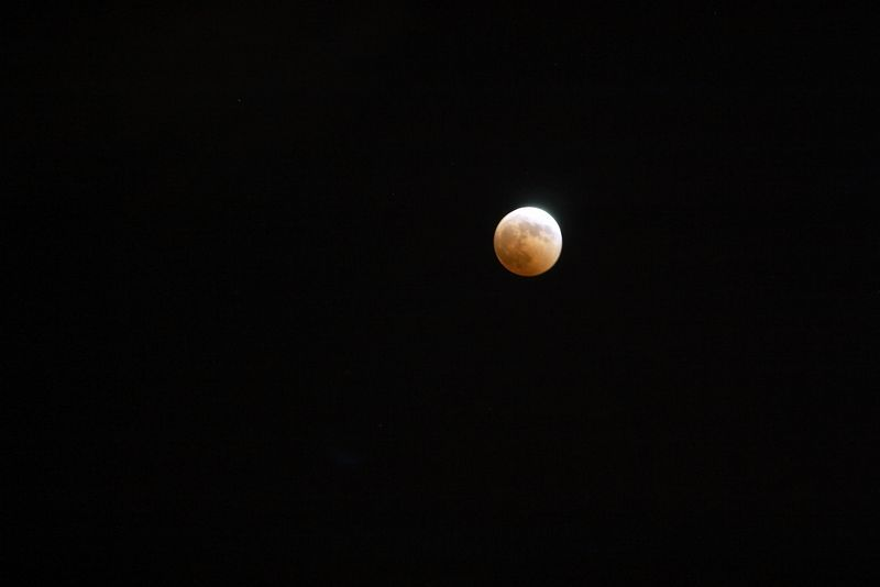 My attempt at taking a picture of the Lunar Eclipse