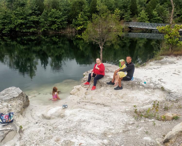 08 Klondike Park Cabin July 2018 - Group At Water