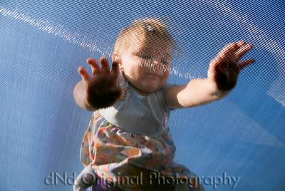 Allie On Trampoline