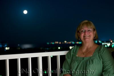 06 Bahamas - Beach & Balcony (Debi At Night On Balcony)