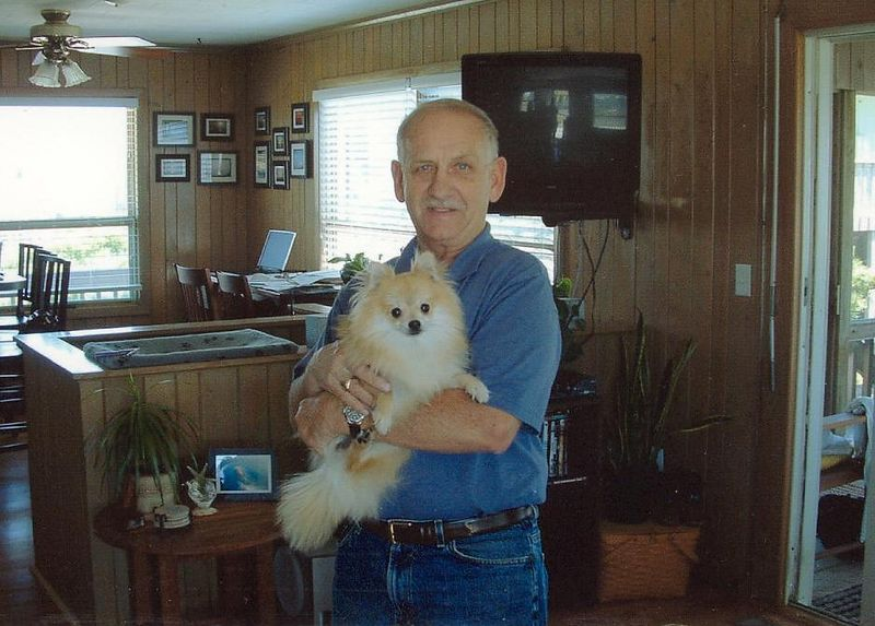 Dad and Mitzy just before her 1st birthday.  Her birthday is September 26, 2002.