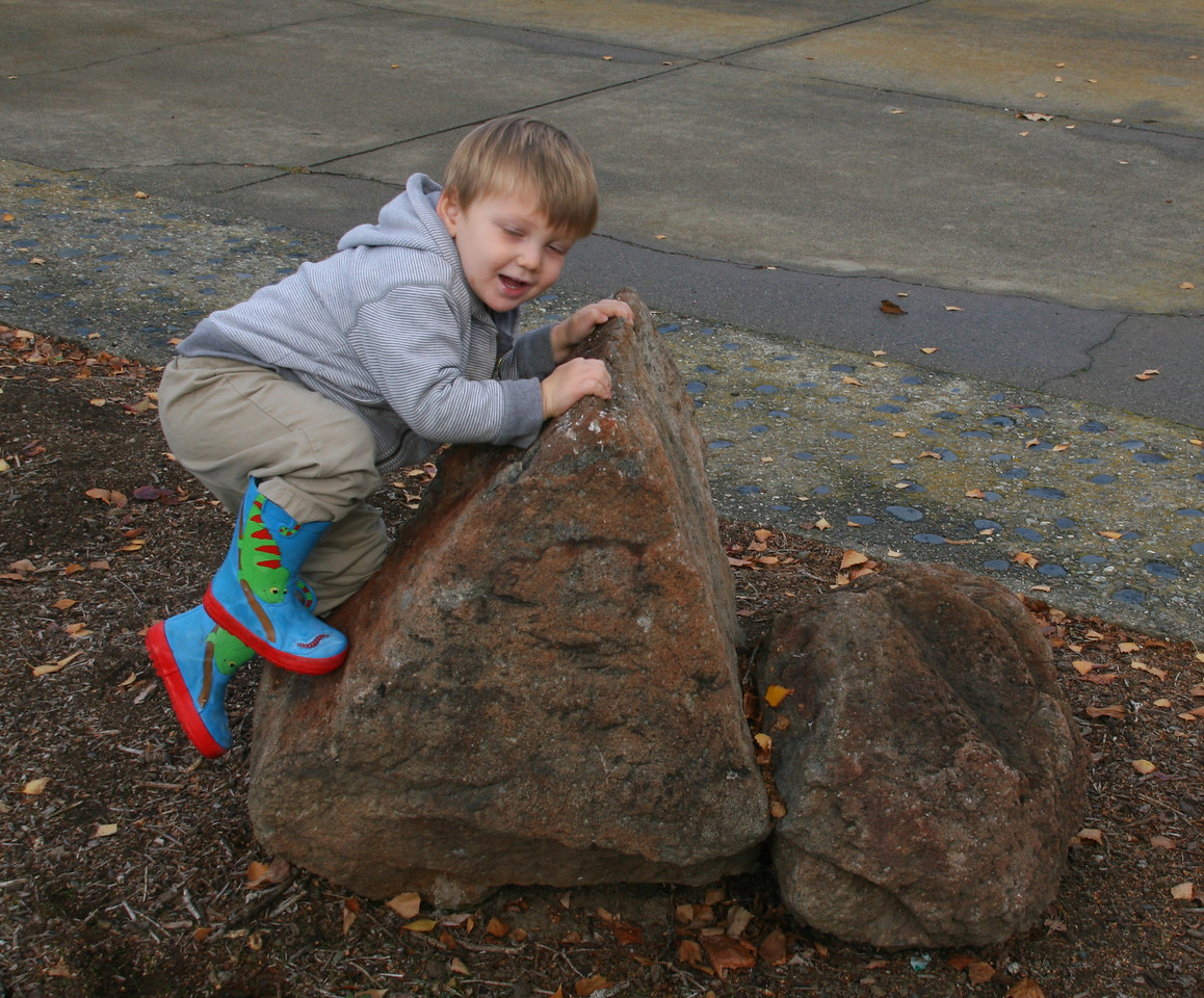 Is he going to be a rock climber?