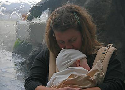 Andi and Joaquin at Monterey Bay Aquarium