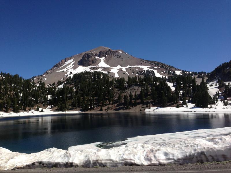 Helen Lake, foreground; Lassen summit, background.