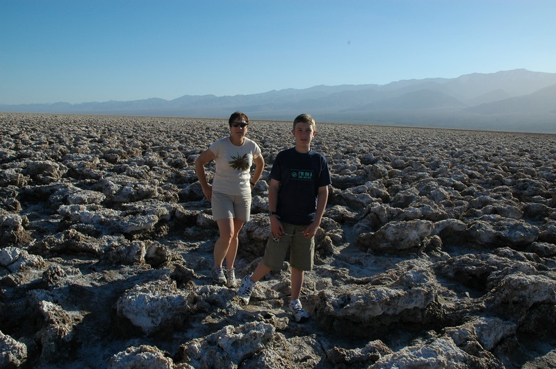 The Devil's Golf Course, pockets and mounds of minerals on the desert floor.